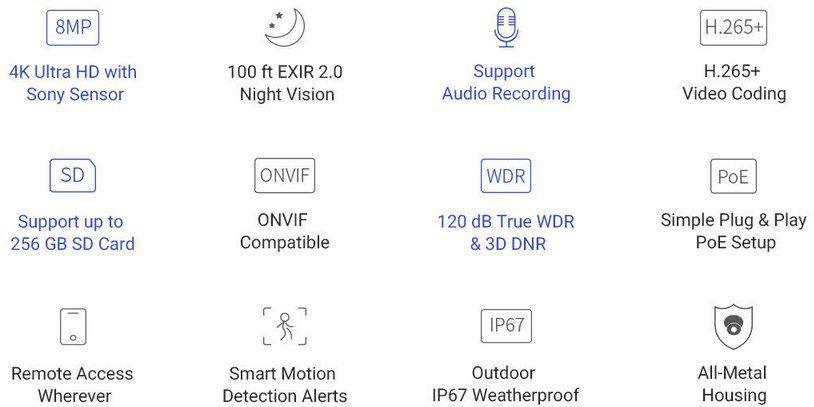 Annke C800 4K POE IP Überwachungskamera für 65€ (statt 90€)