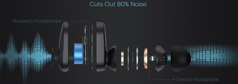 Coumi ANC 860 BT 5.0 TWS InEar Kopfhörer mit bis zu 41h Wiedergabe für 18,49€ (statt 37€)