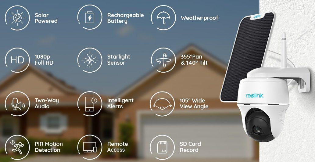 Reolink Argus PT 1080p Überwachungskamera + Solarpanel für 129,59€ (statt 148€)