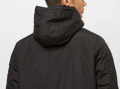 Urban Classics Padded Pull Over Jacke in Schwarz für 19,99€ (statt 39€)   S, M & L
