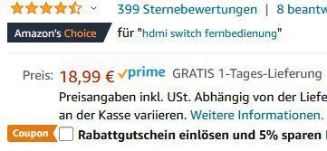 UGREEN 3in1 HDMI Switch mit Fernbedienung für 13,04€ (statt 19€)   Prime
