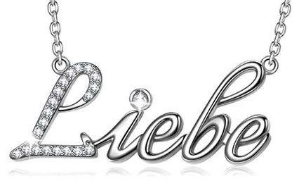 Angel Nina Halskette mit Liebe Schriftzug in mehreren Sprachen für 8,99€ (statt 16€)   Prime