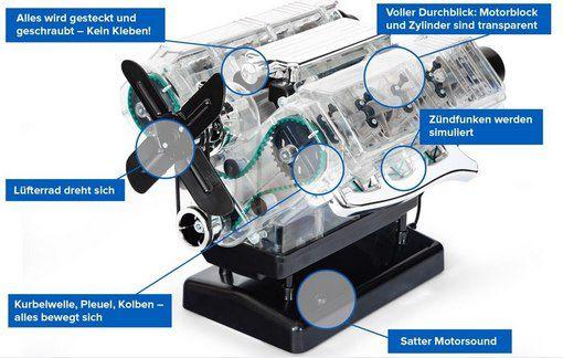 Franzis V8 Motor der große Technikbausatz für 50,96€ (statt 80€)