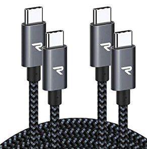 2er Pack: Rampow USB C auf USB C Kabel (2 Meter) mit QC 4.0 für 6,49€ (statt 13€)   Prime