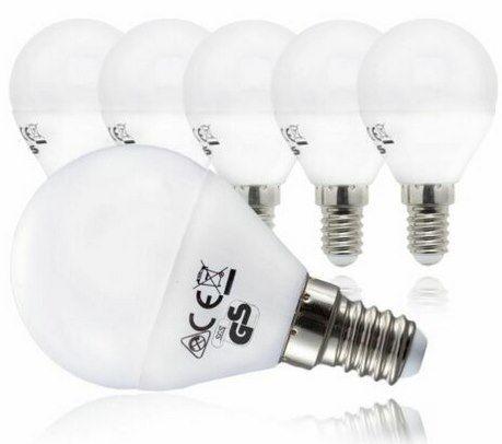 5er Pack LED Glühbirne (E14) mit 5 Watt in Warmweiß für 8,99€ (statt 12€)
