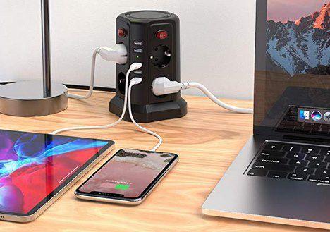 Sameriver G3011   8fach Steckdosenleiste mit 5 USB Ports & 5m Kabel für 25,18€ (statt 36€)