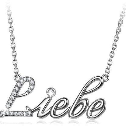 """Angel Nina Halskette mit """"Liebe"""" Schriftzug in mehreren Sprachen für 8,99€ (statt 16€) – Prime"""