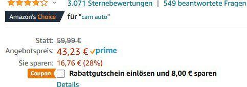 Apeman C570   1080P Dashcam mit 170° Weitwinkel für 35,23€ (statt 60€)