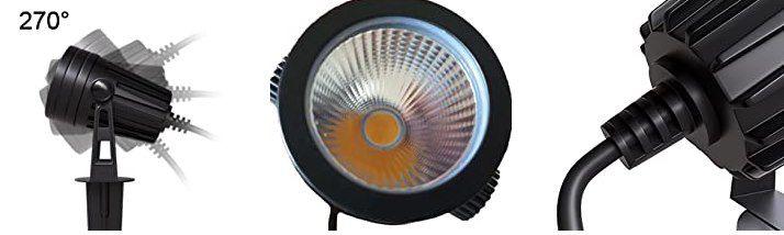 4x Aogled LED Gartenstrahler mit Erdspieß & 3W (1200 Lm) für 34,29€ (statt 49€)