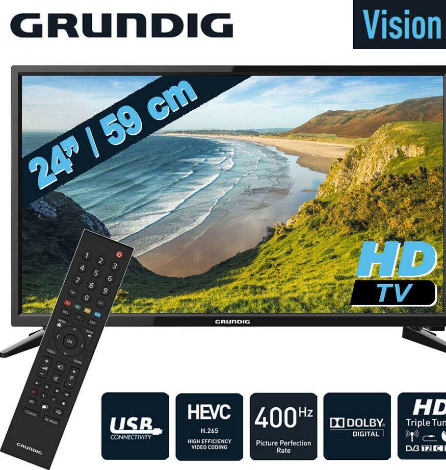 Grundig 24 Zoll HDready TV mit DVB T2 HDMI CI+ USB für 119,99€ (statt 135€)