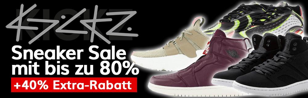 Kickz Sneaker Super Sale + 40% Extra Rabatt