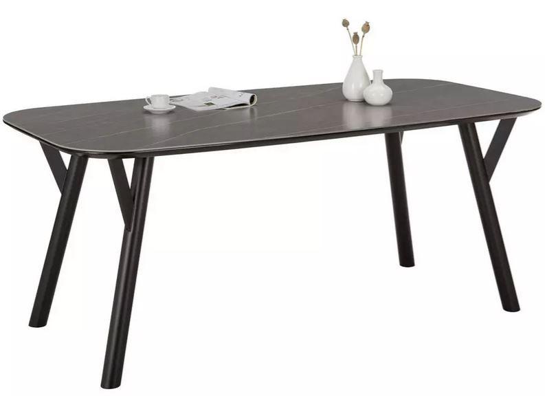 modern living Esstisch 180cm mit Kunsteinoberfläche für 244,30€ (statt 349€)