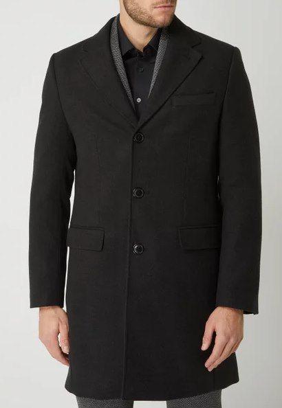 MCNEAL Kurzmantel mit Reverskragen in Schwarz für 39,99€ (statt 100€)