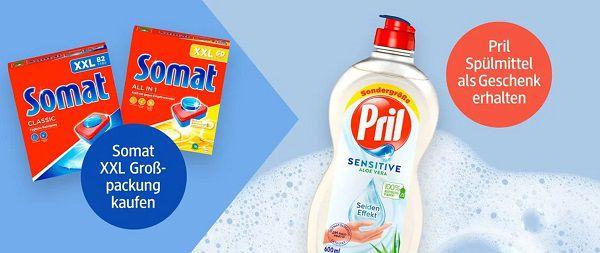 dm: Somat XXL kaufen und Pril Spülmittel gratis dazu