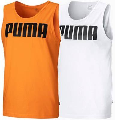 Puma Essentials Herren Tank Top in Weiß oder Orange für je 9,71€ (statt 18€)
