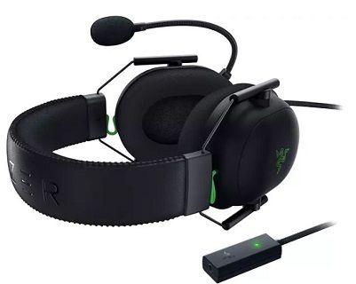 RAZER Blackshark V2 Over Ear Gamin  Headset in schwarz/grün für 77€ (statt 89€)