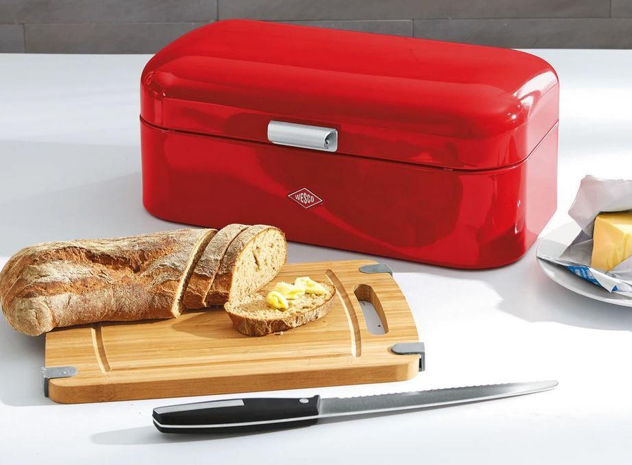 Wesco Grandy Brotkasten + Messer + Schneidebrett div. Farben für 53,86€ (statt 77€)