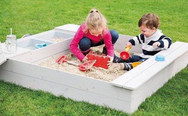 roba Outdoor Sandkasten mit Spielwannen für 114,99€ (statt 150€)