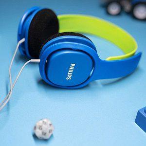 PHILIPS SHK2000BL On-ear Kopfhörer in Blau/Grün für 9€ (statt 16€)