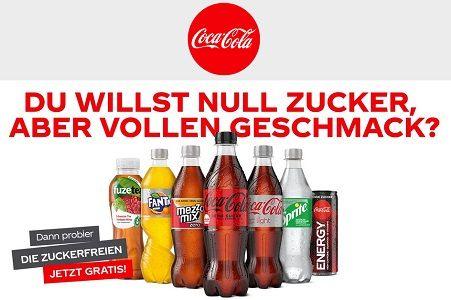Zuckerfreie Sorten von Coca Cola kostenlos ausprobieren
