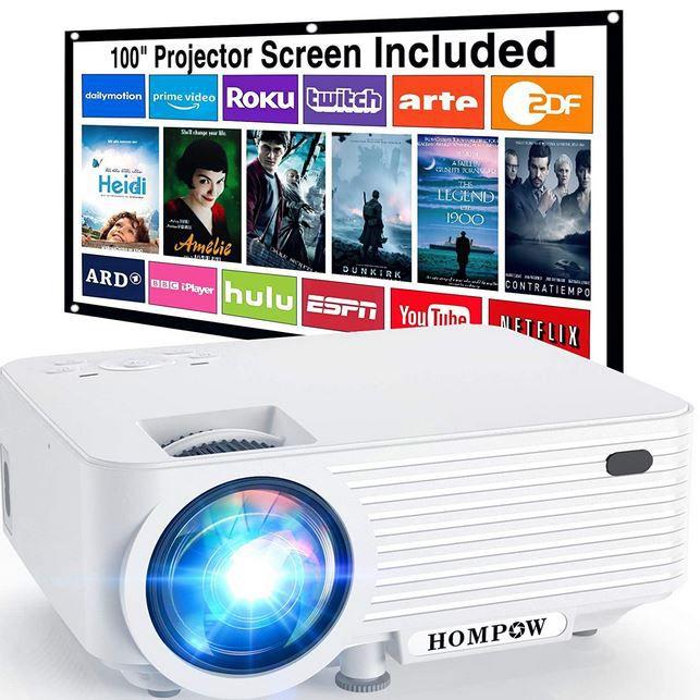 HOMPOW T25 Mini Beamer 6000 Lumen Full HD für 77,99€ (statt 120€)