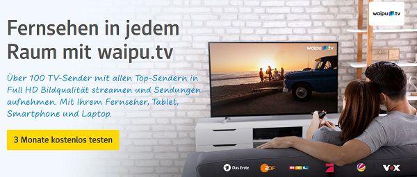 3 Monate waipu.tv für web.de Kunden kostenlos (statt ab ca. 5€)