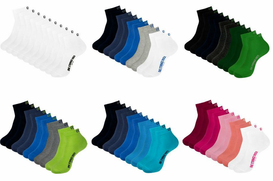 one strange rocks 20 Paar Unisex Quarter Socken für 24,99€ (statt 35€)