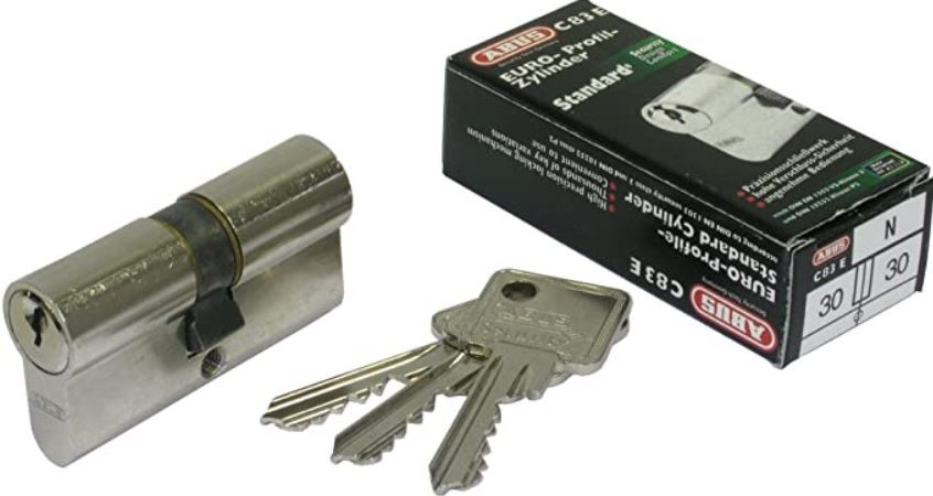 ABUS C83N Zylinder Schloss inkl. je 3 Schlüssel für 9,99€ (statt 14€)