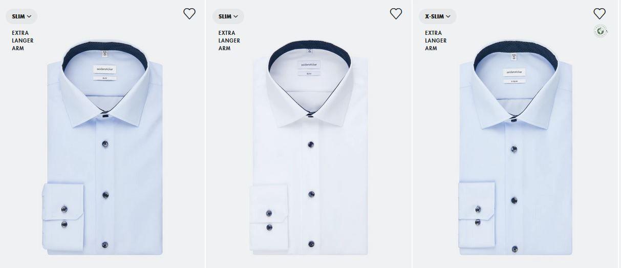 Seidensticker Sale mit bis 50% Rabatt + 20% Extra Rabatt ab 3 Hemden