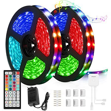2x 5m JUOYOU LED Streifen mit Fernbedienung für 12,99€ (statt 26€)   Prime