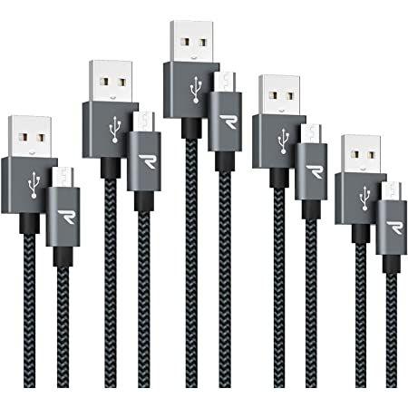 5er Pack RAMPOW Micro USB Schnellladekabel mit Nylon geflochten für 5,99€ (statt 12€) – Prime