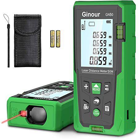 Ginour GN50 – Laser Entfernungsmesser für bis zu 50m für 17,99€ (statt 30€)