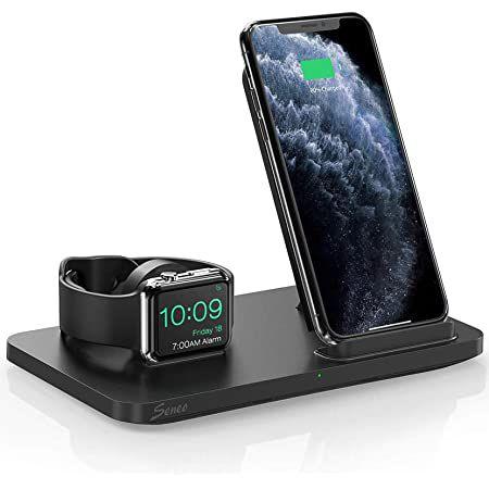 Seneo 2in1 Dual Qi Ladestation für Smartphone & iWatch für 17,99€ (statt 24€) – Prime