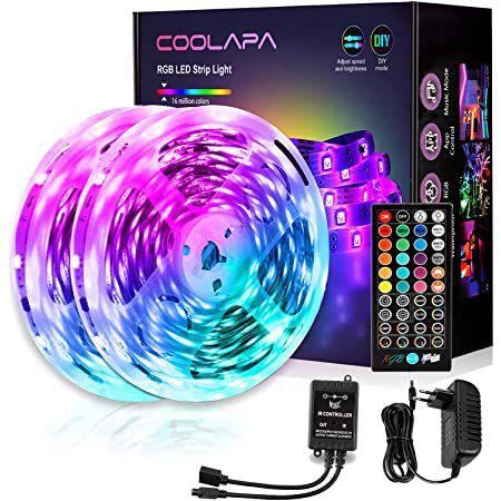 2x 6m COOLAPA LED Streifen mit MusicSync & Fernbedienung für 14,49€ (statt 29€)