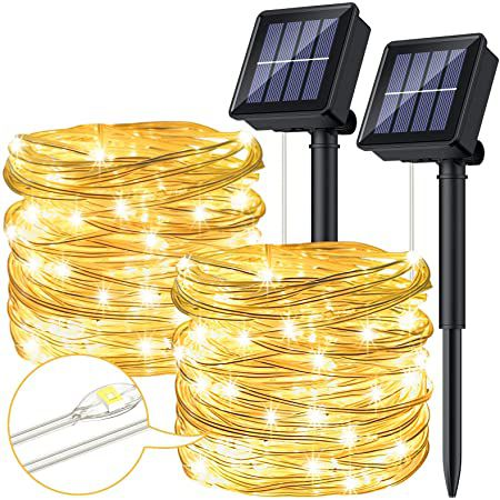 2x 10m LED Solar Lichterkette mit 8 Modi für 12,99€ (statt 20€)   Prime