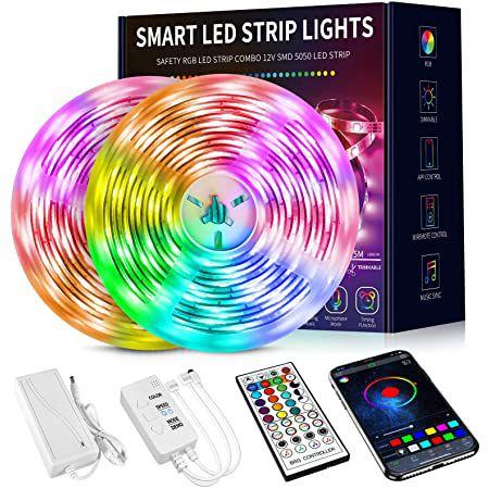 15m LED Streifen inkl. App Steuerung & Fernbedienung für 21,59€ (statt 36€)