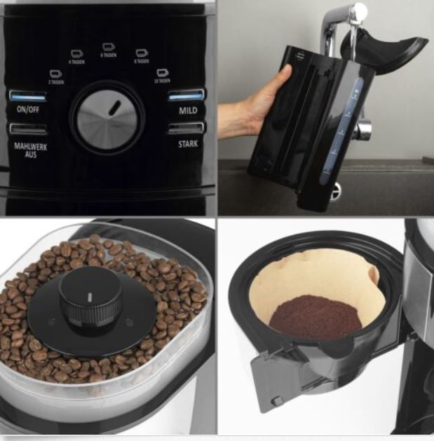 Beem Filterkaffeemaschine mit Kegel Mahlwerk Wärmeplatte für 53,99€ (statt neu 104€) gebraucht