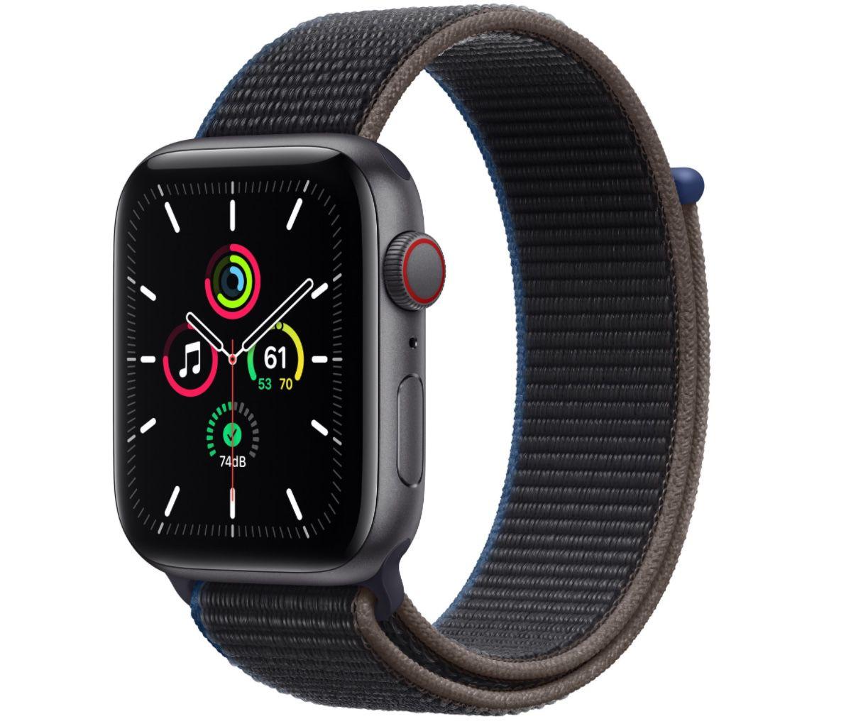 Apple Watch SE LTE in Space Grau mit 44mm inkl. Sport Loop für 309,64€ (statt 365€)