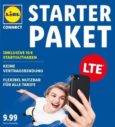 Lidl Connect Starterpaket im Vodafone Netz inkl. 10€ Startguthaben für nur 4,99€