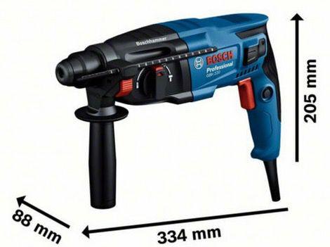 Bosch Professional GBH 2 21 (CC) elektrischer Bohrhammer und Meißel mit Koffer für 99,99€ (statt 110€)