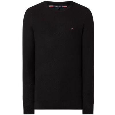 Tommy Hilfiger Pullover aus Bio Baumwolle in Schwarz für 47,99€ (statt 93€)   S bis 2XL