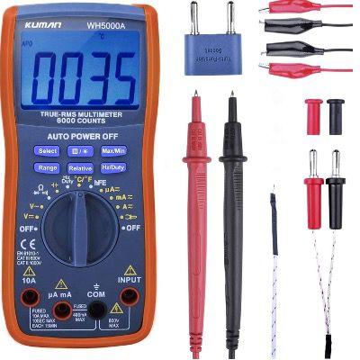Kuman Digital Multimeter True RMS6000 für z.B. Spannung, Strom und Widerstand für 22,39€ (statt 32€)