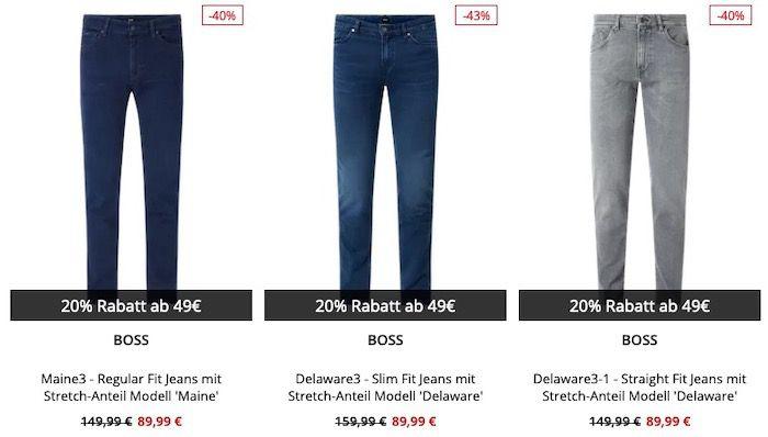 Luxusmarken Jeans bis zu 43% Rabatt + 20% Extra Rabatt   z.B. Tommy Hilfiger Jeans ab 63,99€