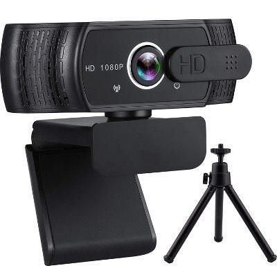 YIKANWEN Webcam 1080p FullHD mit Stereo Mikrofon und Datenschutz Abdeckung mit Stativ für 15,94€ (statt 29€)