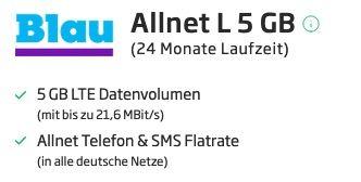 Xiaomi Redmi Note 9T für 1€ mit Blau.de o2 Allnet Flat mit 5GB LTE für 12,99€ mtl.
