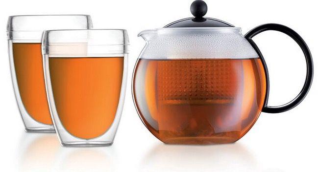 Bodum Assam Tee Set mit 1 Liter Kanne inkl. 2 Gläsern für 21,90€ (statt 34€)