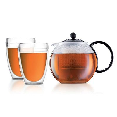 Bodum Assam Tee-Set mit 1 Liter Kanne inkl. 2 Gläsern für 21,90€ (statt 34€)