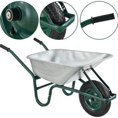 Juskys Schubkarre Garden 100 Liter Volumen bis 210kg und Luftreifen für 48,90€ (statt 65€)