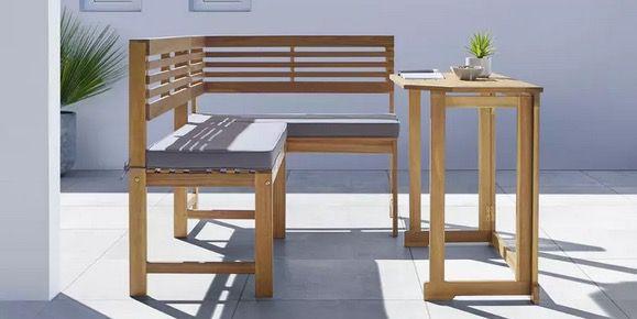 Bessagi Garden Balkonset Lia aus Akazie inkl. Auflagen für 174,30€ (statt 349€)