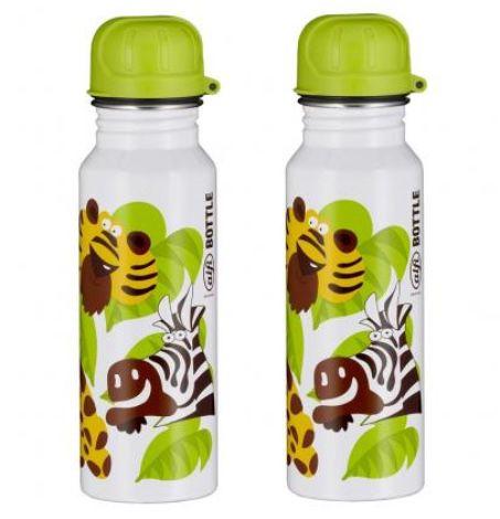 2er Pack alfi Edelstahl Kinder-Trinkflasche mit Jungle-Design (je 600ml) für 9,99€(statt 25€)